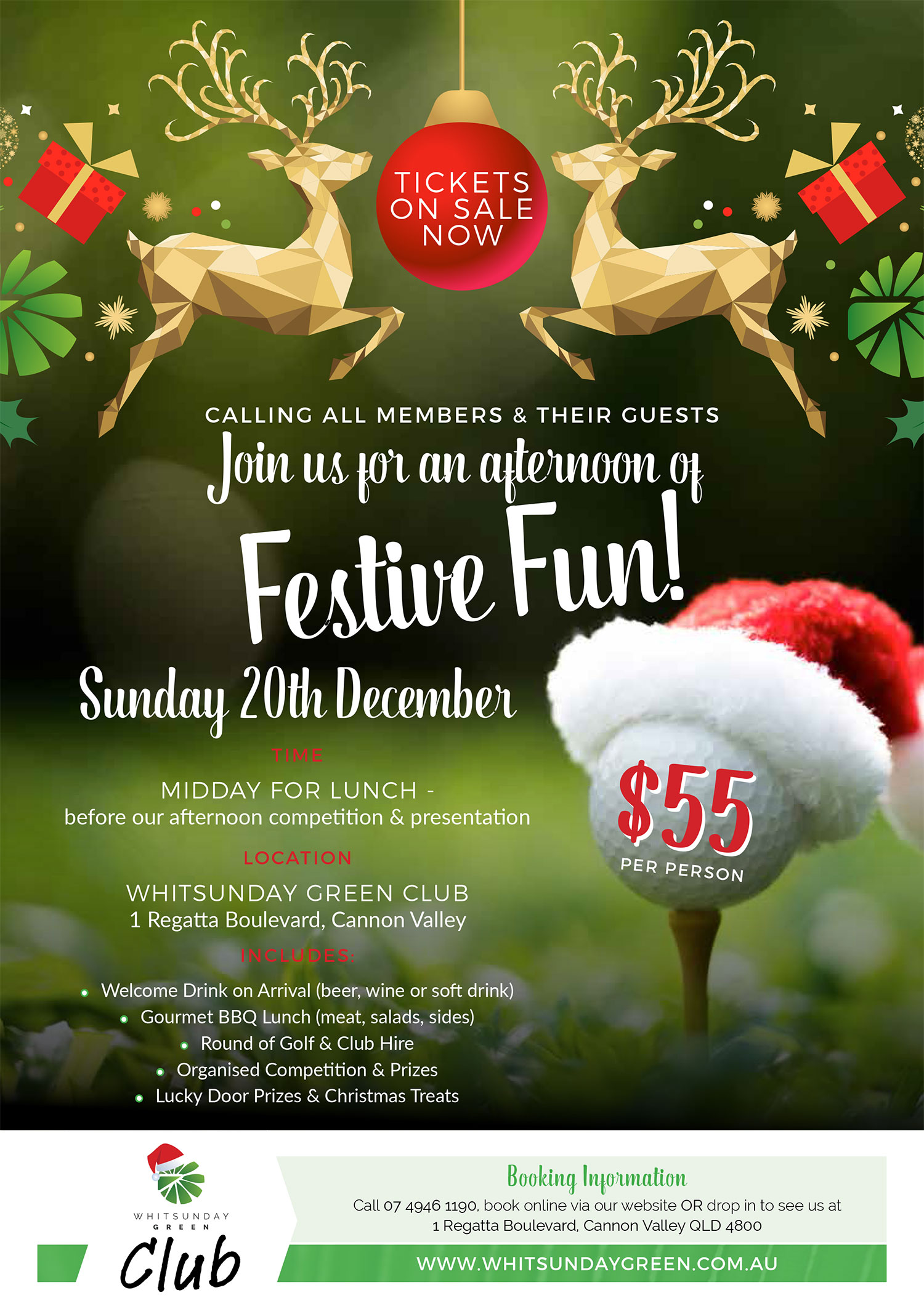 Whitsunday Green Club Members Christmas Party